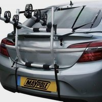 Maypole High Rear Mounted 3 Bike Cycle Carrier, Silver/CARRI