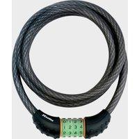Masterlock 12Mm X 1800Mm Combi Lock Cable - Black/Combi, BLACK/COMBI