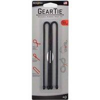 "Niteize Gear Tieô""ô÷ Reusable Rubber Twist Tie 12"" (Black) - Black/2PK, Black/2PK"