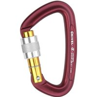Grivel Alpha K1N Screwgate Carabiner, Purple/Purple