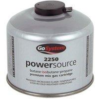 GOGas PowerSource Butane/Propane Mix Gas Cartridge (220g, Silver