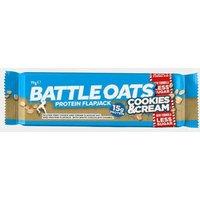 Battle Oats Protein Flapjack 70g (Cookies & Cream), CREAM/CREAM