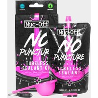 Muc Off No Puncture Hassle Tubeless Sealant (140ml Kit)  Black