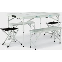 HI-GEAR Elite Picnic Table Set, Silver/SET