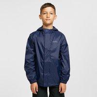FreedomTrail Kids' Stowaway Waterproof Jacket, Blue