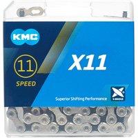 Kmc Chains X11 Silver 114 Bike Chain - Grey/Black, Grey/Black