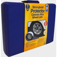 Stronghold Protector Caravan Alloy Wheel Lock - Blue/Yellow, Blue/YELLOW