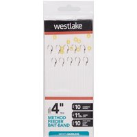 Westlake Method Feeder Bait-Band (Size 10) - Silver/Ban, Silver/BAN
