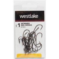 Westlake 20Pk Worm Hooks Sz 1 - Black, Black