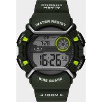 Limit 5696.67 Digital Watch, Green/NAVY