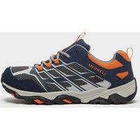 Merrell Kids' MOAB FST Low Waterproof Shoes, Blue/Orange