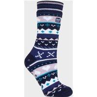 Heat Holders Women's SOUL WARMING Dual Layer Slipper Socks, Navy/NAV