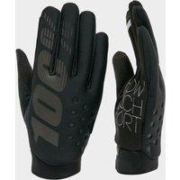 100% Men's Brisker Bike Gloves - Black, Black