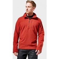 Brasher Mens Fountains Half Zip Fleece  Red