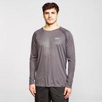 Oex Mens Zephyr Long Sleeve T-Shirt - Grey/Mgy, Grey/MGY