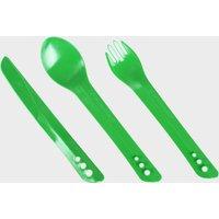 Lifeventure Ellipse Camping Cutlery Set - Green/Gr, Green/GR