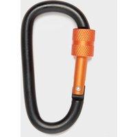 Eurohike D Shape Carabiner Key Ring, Black/Orange