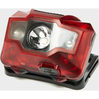 OEX Rechargeable Head Torch (3W + 2 LED), Red