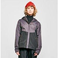 Oex Womens Phase Waterproof Jacket - Grey/Blu, Grey/BLU