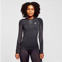 Odlo Women's Performance Warm Long Sleeve Base Layer Top, Black