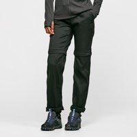 Craghoppers Womens Kiwi Pro Convertible Trousers (Long) - Black/Blk, Black