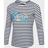 Regatta Kids' Carmella Striped Long Sleeve T-Shirt - Navy/Nvy, Navy/NVY