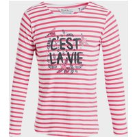 Regatta Kids' Carmella Striped Long Sleeve T-Shirt - Pink/Pnk, Pink/PNK