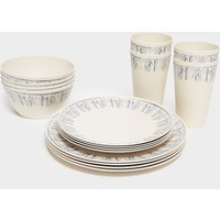 Hi-Gear 16 Piece Bamboo Tableware Set - Cream/Cream, Cream/Cream