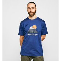 North Ridge Men's 90's T-Shirt, Blue/NVY
