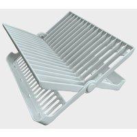 Quest Folding Dish Draining Rack, White/CRM