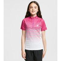 Dare 2B Kids Go Faster Half Zip Cycle Jersey - Pink/Pnk, Pink/PNK