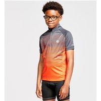 Dare 2B Kids Go Faster Half Zip Cycle Jersey - Grey/Grey, Grey/Grey