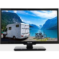 """Falcon 24"""" HD Travel TV with DVD, Freeview, Freesat, USB,, Black/NO"""