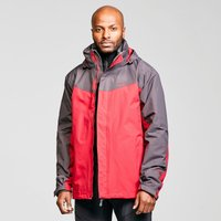 Peter Storm Mens Lakeside 3 In 1 Jacket - Red/Grey, Red/Grey