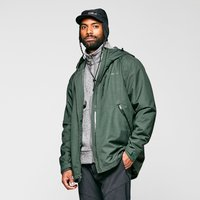 Brasher Mens Textured Waterproof Jacket  Khaki