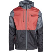Under Armour Men's UA Recovery Legacy Windbreaker Jacket, Red/BLK