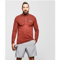 Under Armour Men's UA Seamless Long Sleeve Zip Tee, Red/DRD