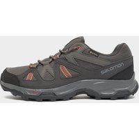 Salomon Women's Rhossili GORE-TEX Hiking Shoe, Dark Grey/Pink
