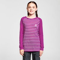 Odlo Kids' Active Warm Long Sleeve Baselayer Top, Pink/PUR