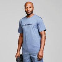 Berghaus Mens Short Sleeve Big Logo T-shirt  Blue