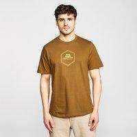 Mountain Equipment Men's Hex Logo Tee, Yellow/KHK