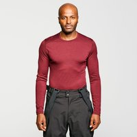 Icebreaker Men's Merino 200 Oasis Long Sleeve Half Zip Thermal Baselayer, Red/MGY