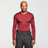Icebreaker Men's Merino 200 Oasis Long Sleeve Half Zip Thermal Baselayer, Red