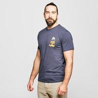 Weird Fish Men's Clam Miguel Artist T-Shirt, Navy/NVY