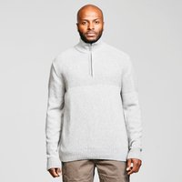 Weird Fish Men's Burnaby Quarter-Zip Jumper, Cream/CRM