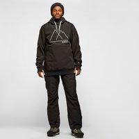 Protest Men's Melton Softshell Anorak Ski Jacket, Black