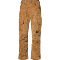 Protest Men's Edge Corduroy Ski Trousers, Brown/Brown