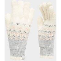 Heat Holders Womens Thermal Fairisle Glove - White, White