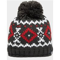 Heat Holders Men's Helsinki Bobble Hat, Grey/Red