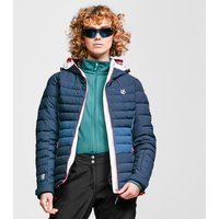 Dare 2B Womens Succeed Waterproof Insulated Quilted Hooded Ski Jacket, NAVY/NAVY